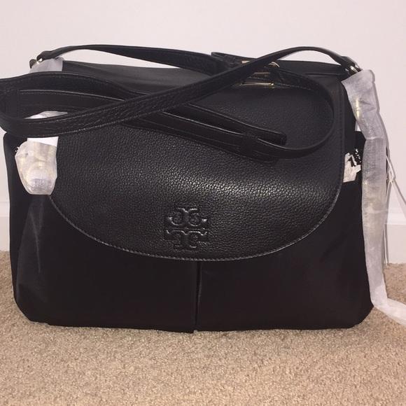 02f5f5b766e9 Tory Burch Thea Nylon Leather Messenger Baby Bag